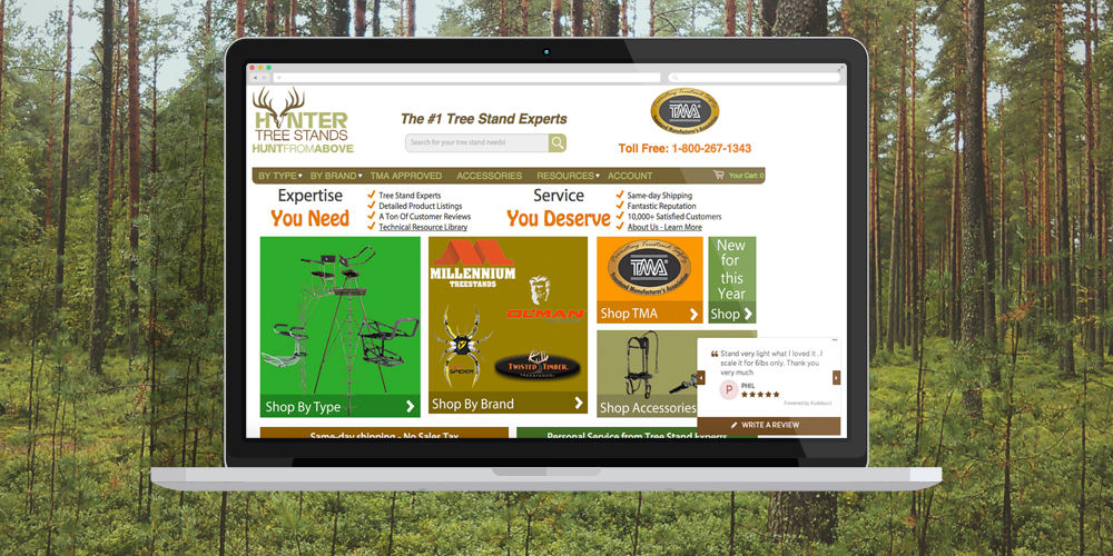 hunter treestands picture RXA   Midwest web and mobile application development company